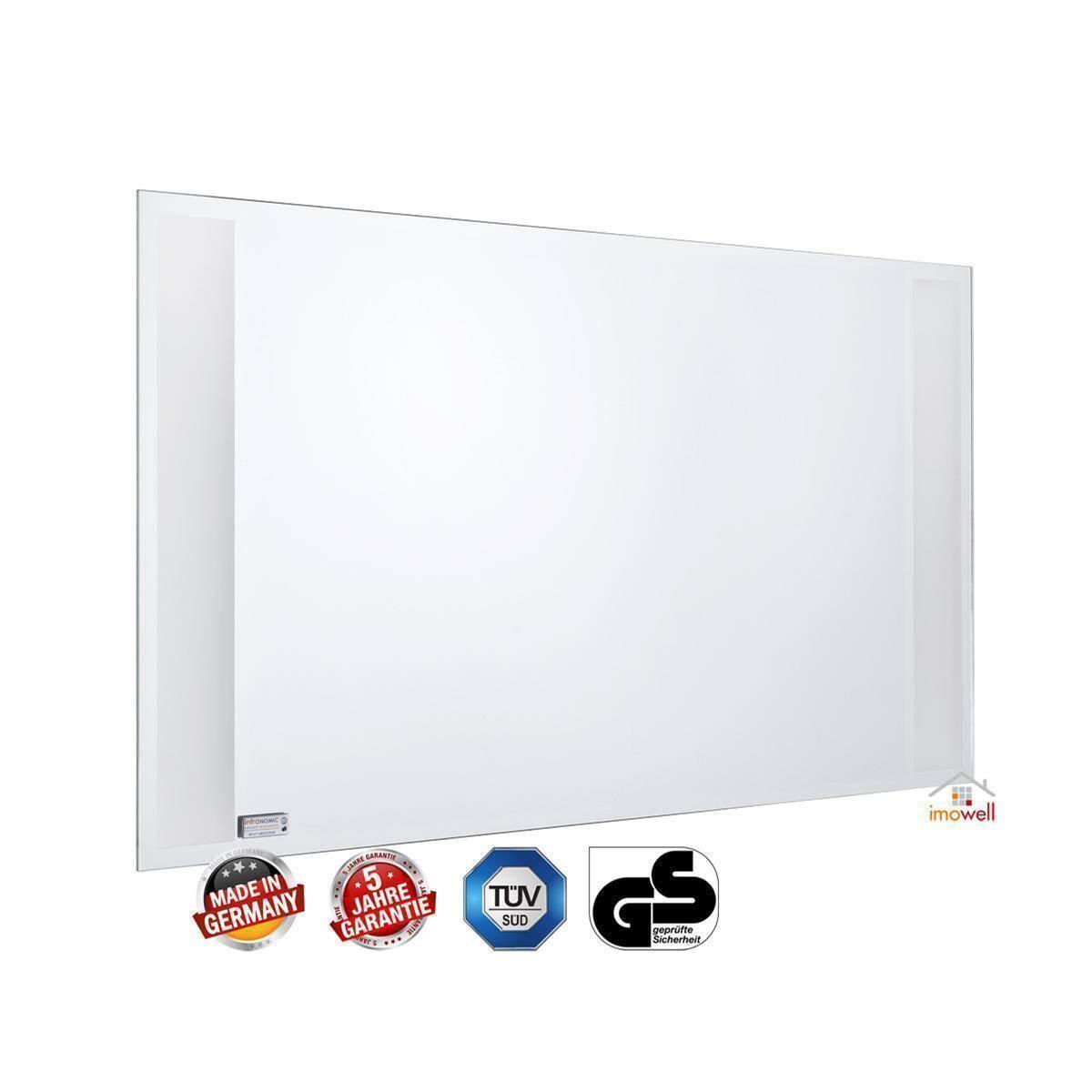 rahmenlose infrarot spiegelheizung nomic star 400 watt. Black Bedroom Furniture Sets. Home Design Ideas