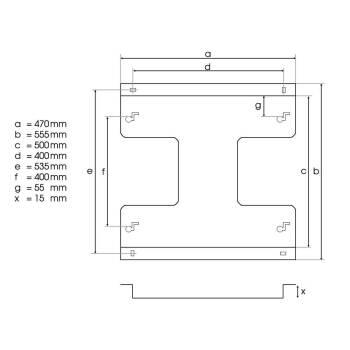 Deckenhalterung für Elbotherm Heizungen 60 x X cm...