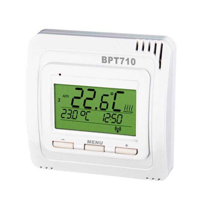 Elektrobock Digitaler Funk-Raumthermostat mit Display BPT710