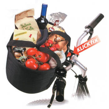 Shopper-Tasche KLICKfix Comfort Mini schwarz, 32x24x23cm,...